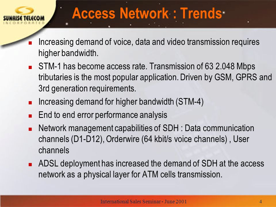 Access Network : Trends