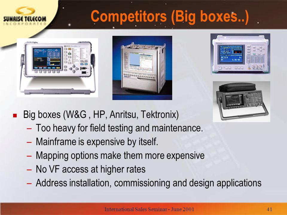 Competitors (Big boxes..)