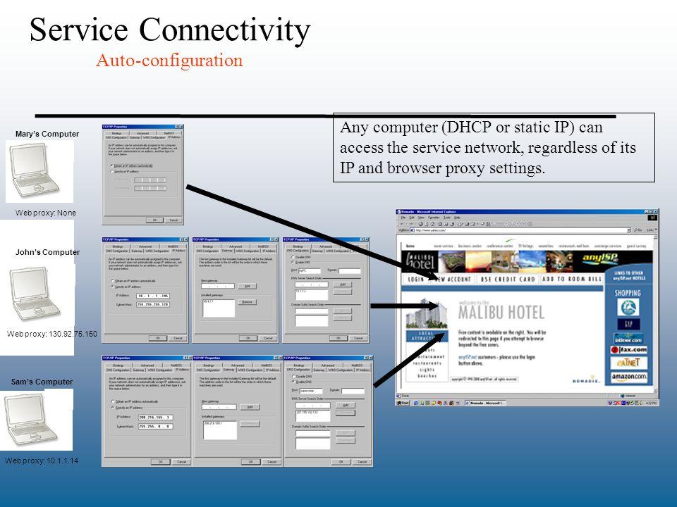 Service Connectivity Auto-configuration