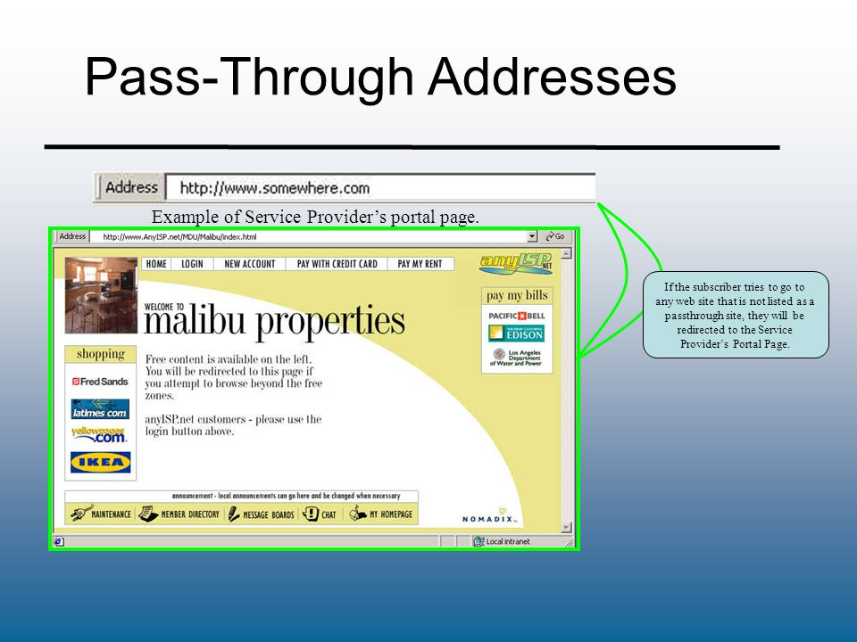 Pass-Through Addresses