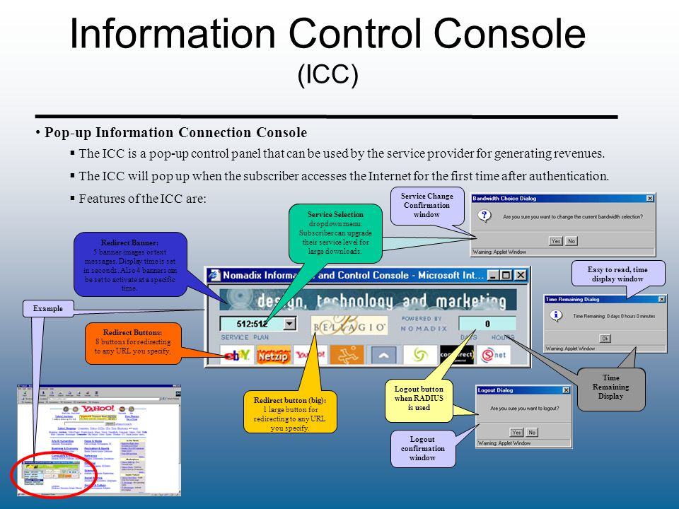 Information Control Console (ICC)