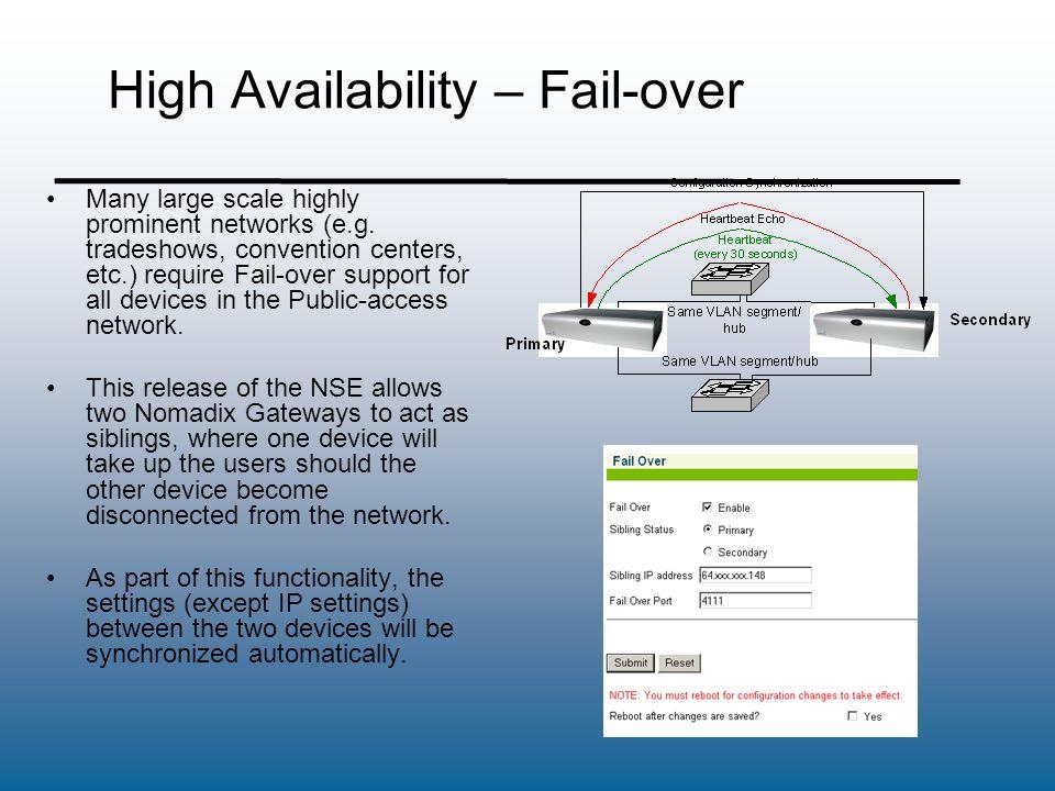 High Availability – Fail-over