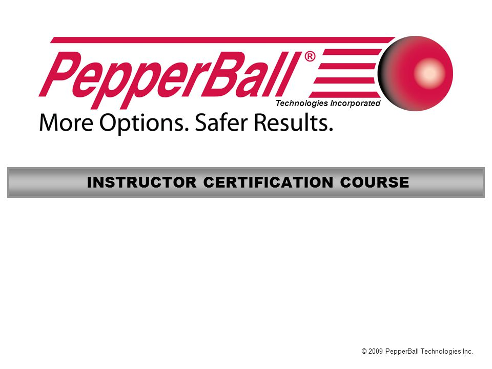 INSTRUCTOR CERTIFICATION COURSE