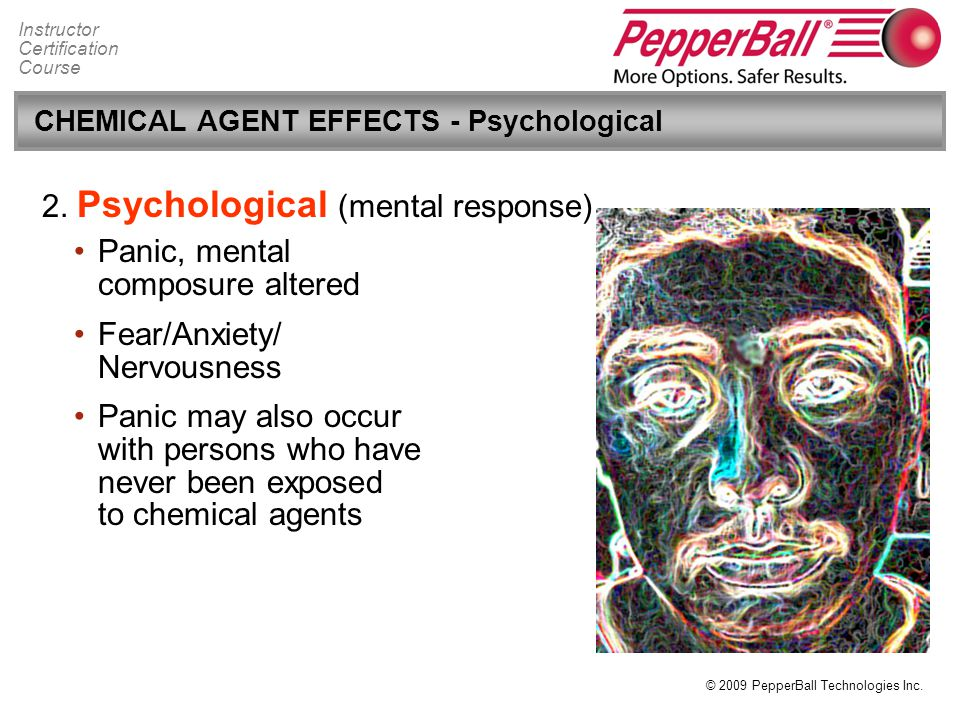 CHEMICAL AGENT EFFECTS - Psychological