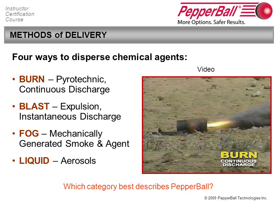 Which category best describes PepperBall