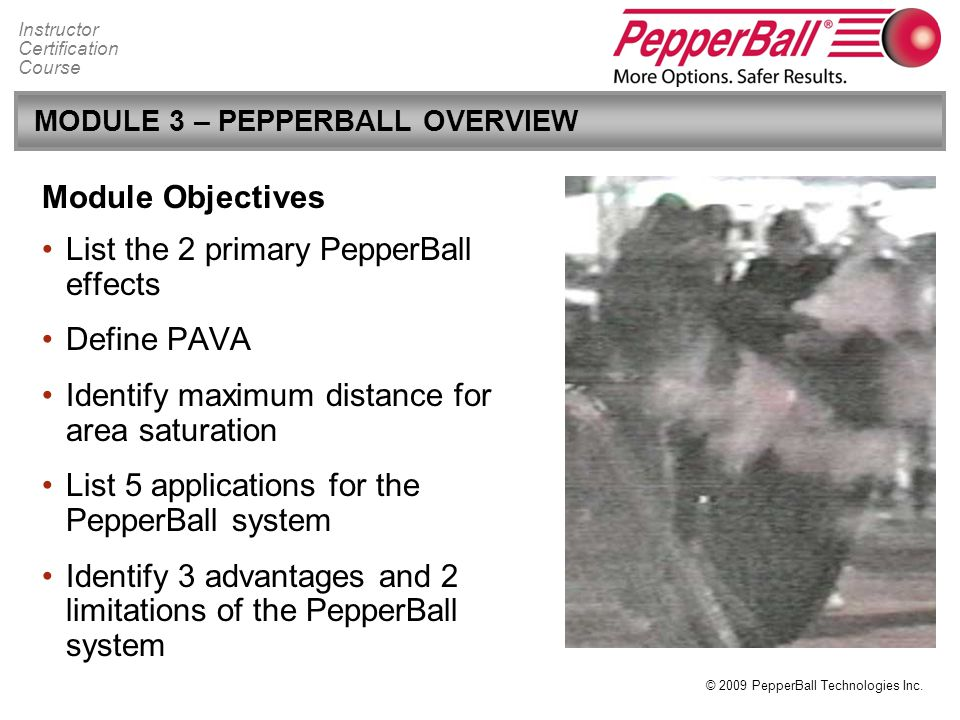 MODULE 3 – PEPPERBALL OVERVIEW