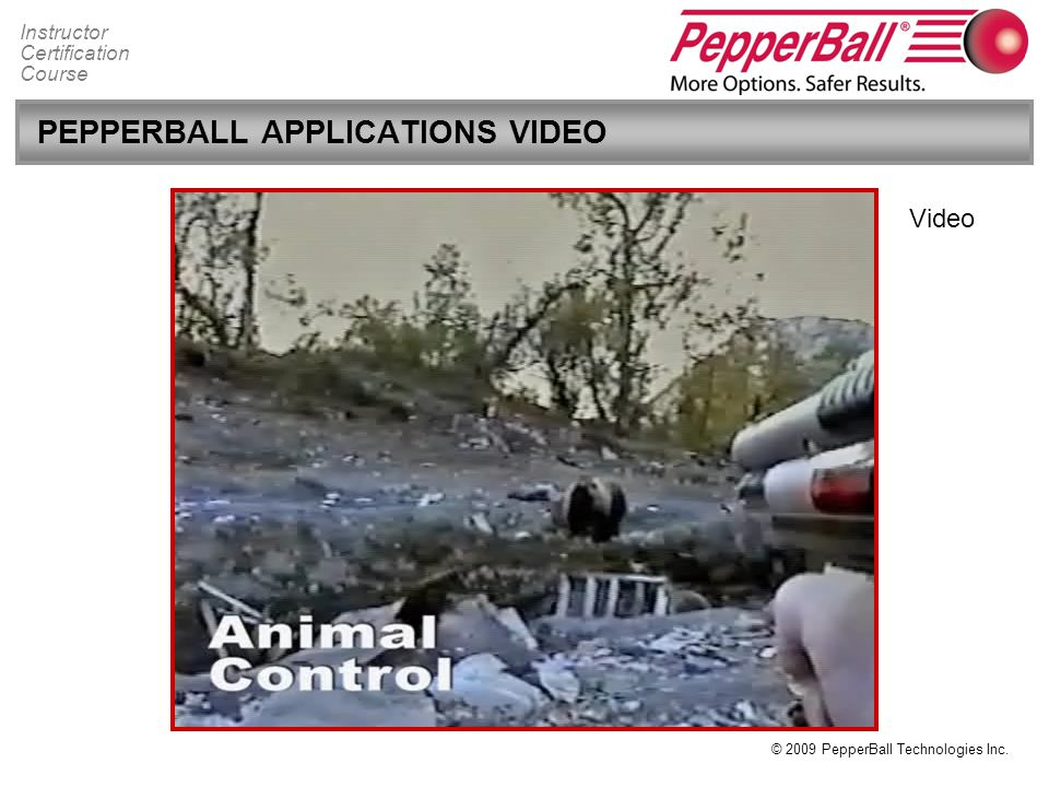 PEPPERBALL APPLICATIONS VIDEO