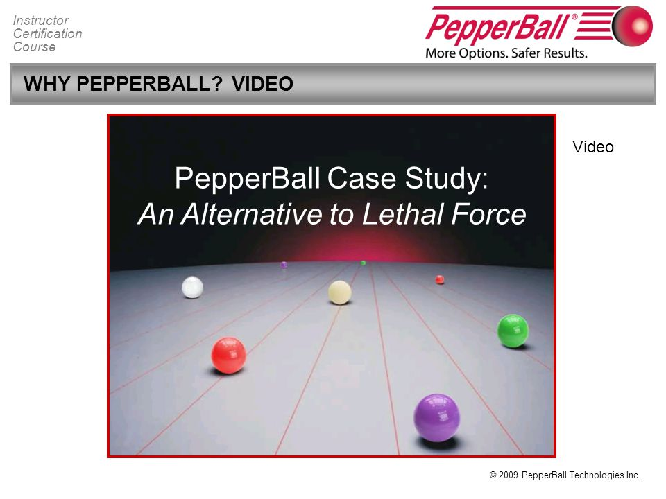 PepperBall Case Study: An Alternative to Lethal Force