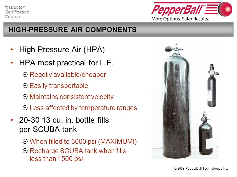 HIGH-PRESSURE AIR COMPONENTS
