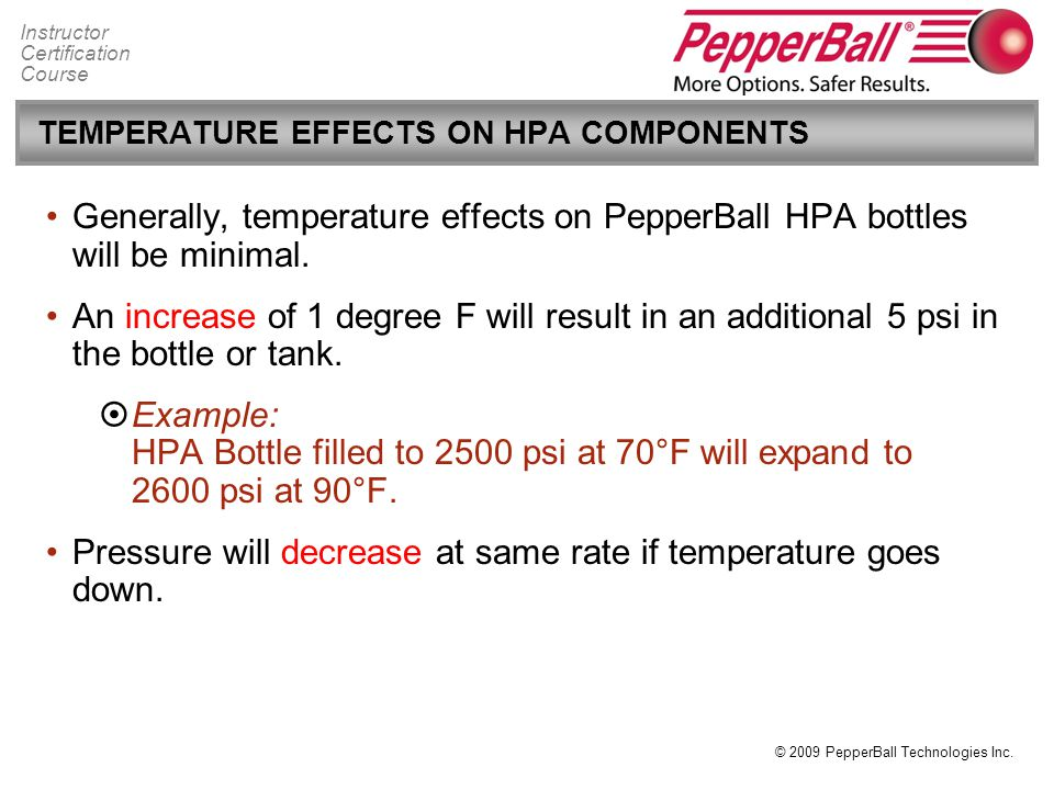 TEMPERATURE EFFECTS ON HPA COMPONENTS