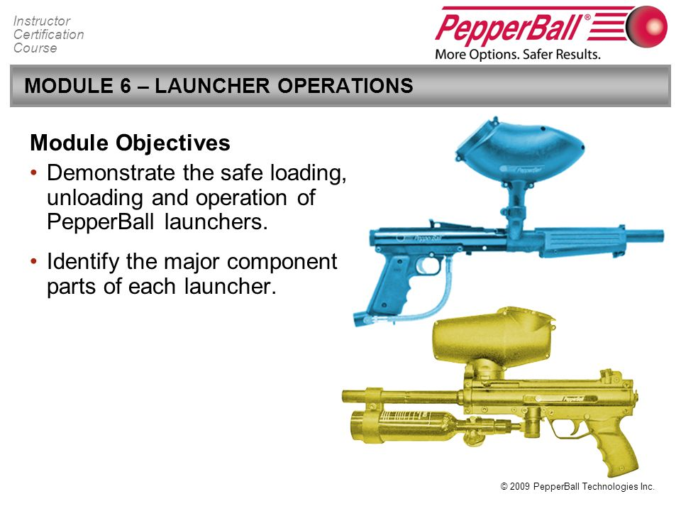 MODULE 6 – LAUNCHER OPERATIONS