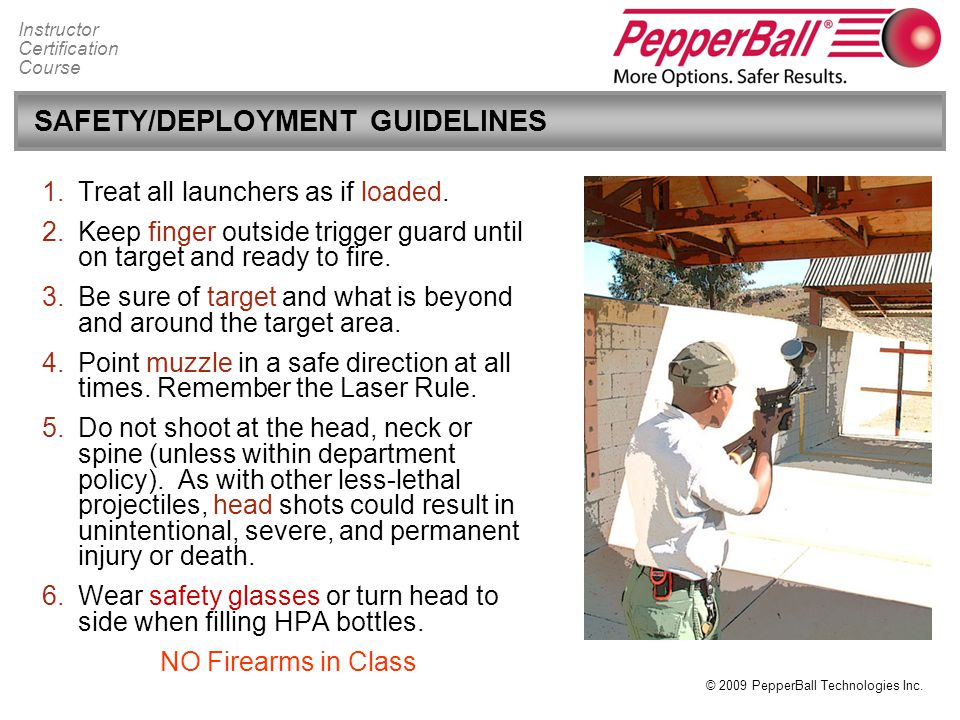 SAFETY/DEPLOYMENT GUIDELINES