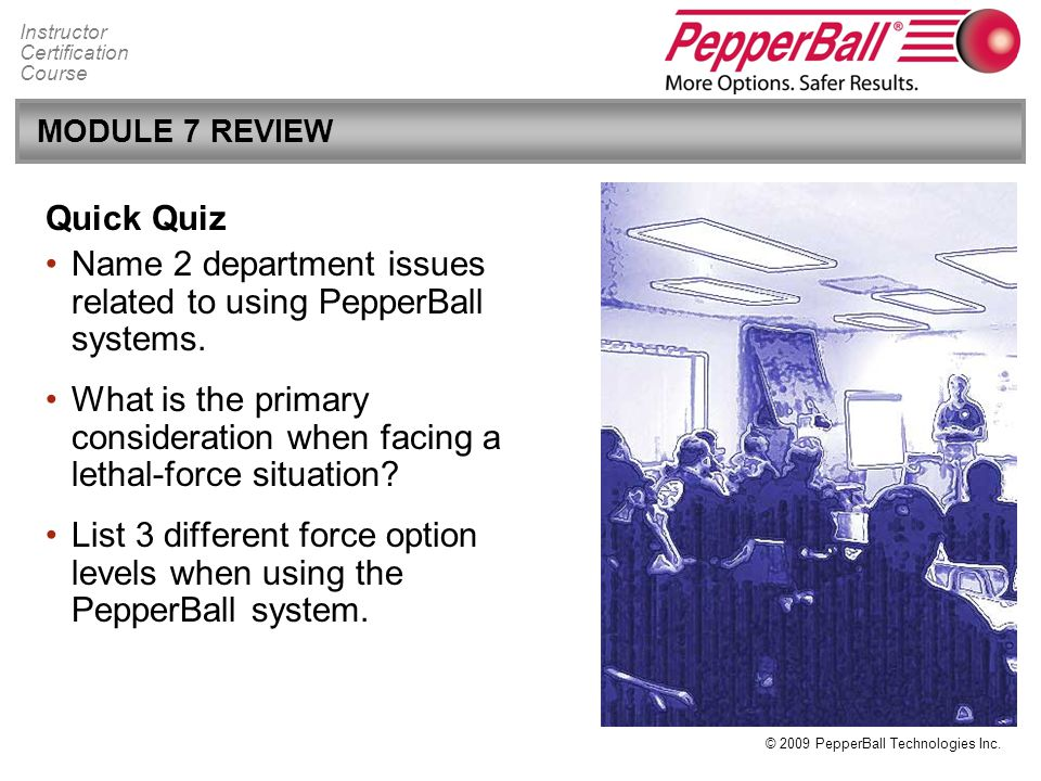 Name 2 department issues related to using PepperBall systems.