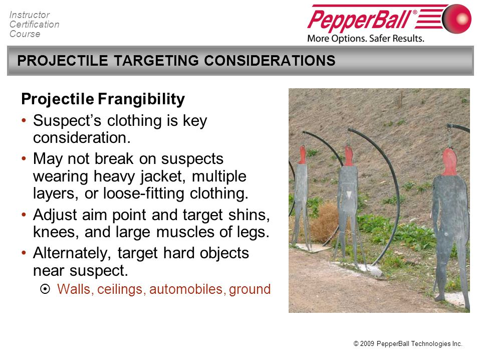 PROJECTILE TARGETING CONSIDERATIONS