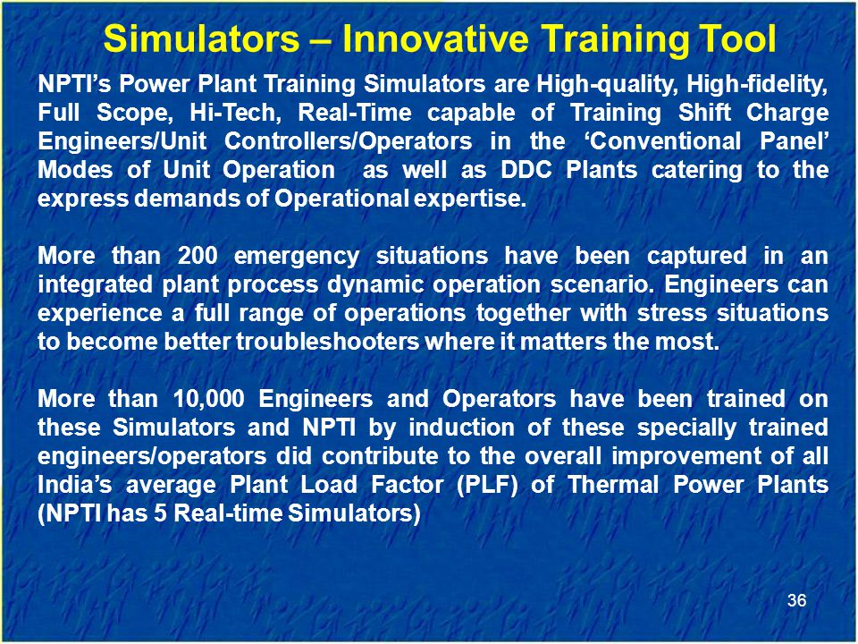 Simulators – Innovative Training Tool