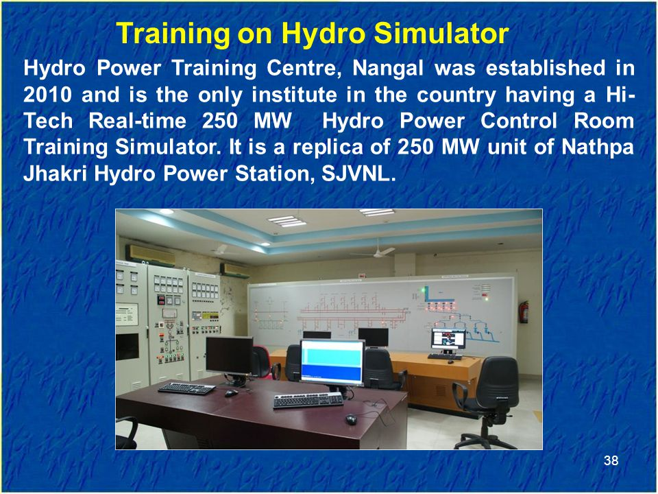 Training on Hydro Simulator