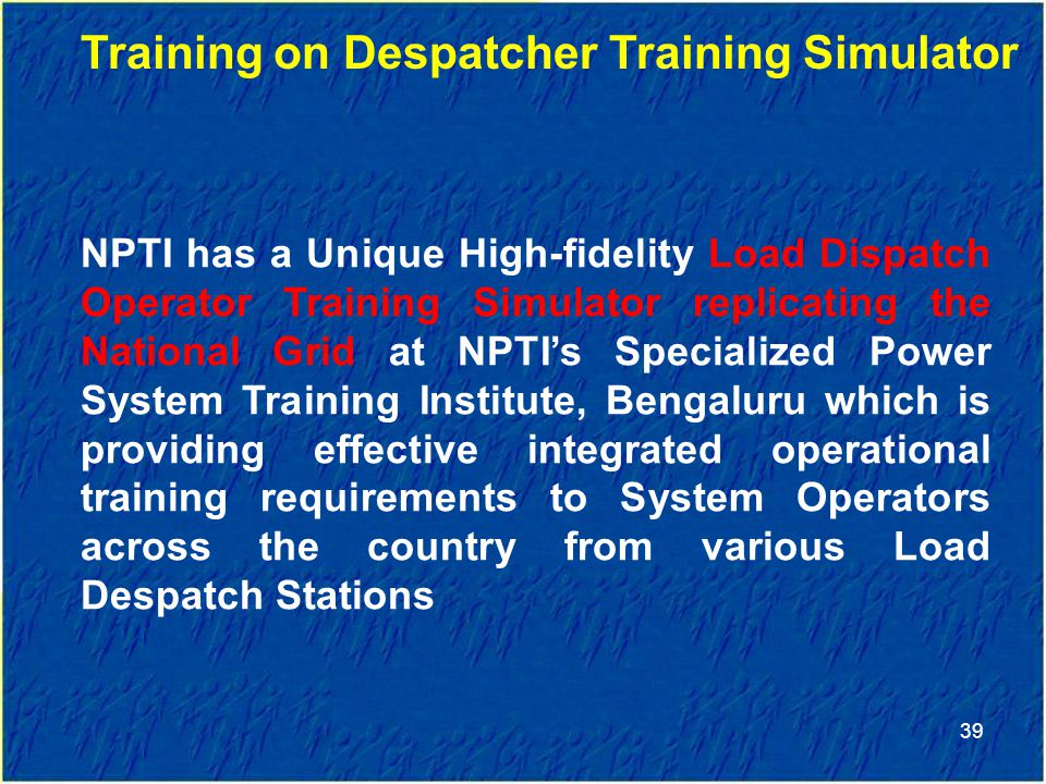 Training on Despatcher Training Simulator