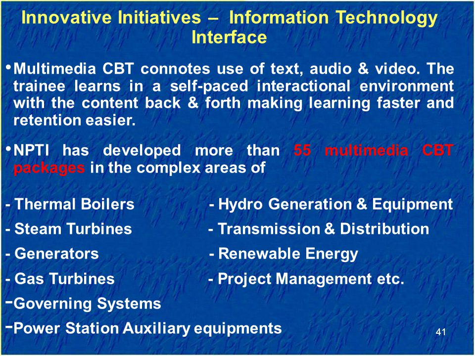 Innovative Initiatives – Information Technology Interface