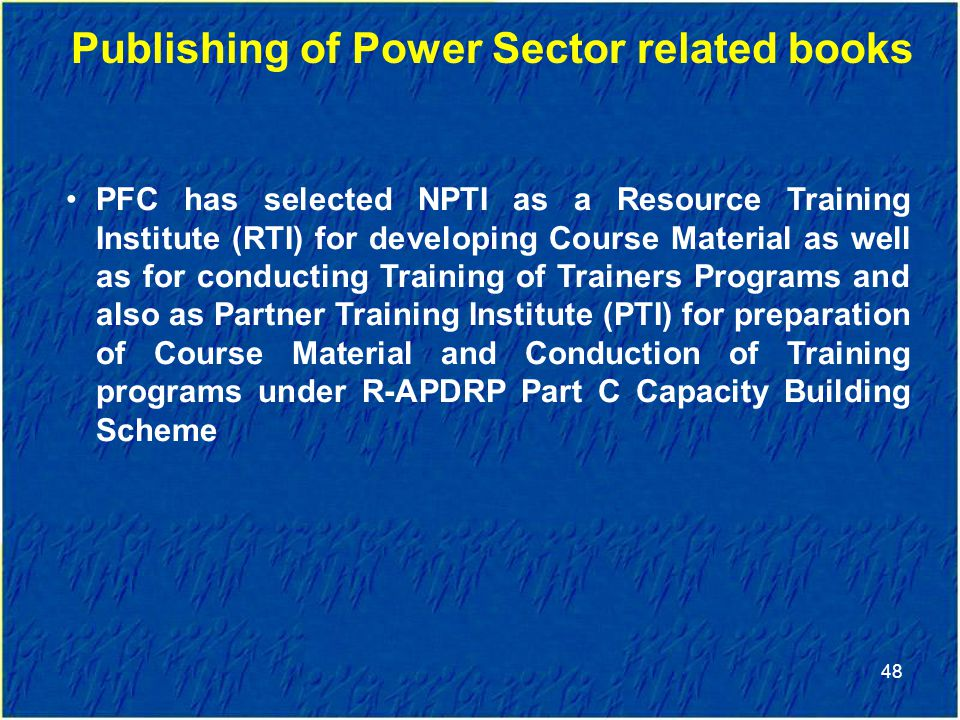 Publishing of Power Sector related books