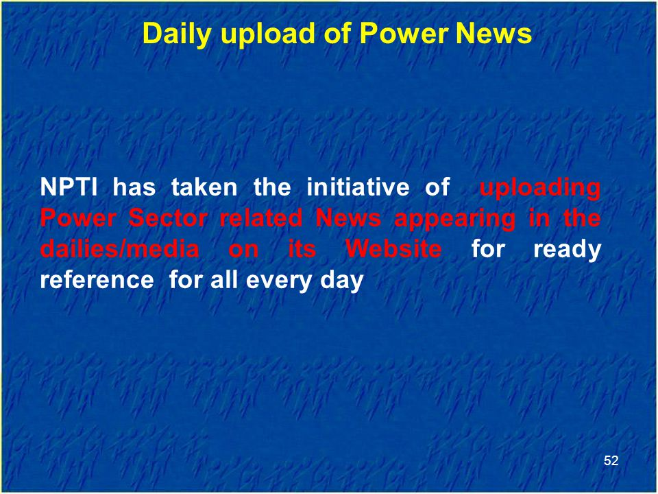 Daily upload of Power News