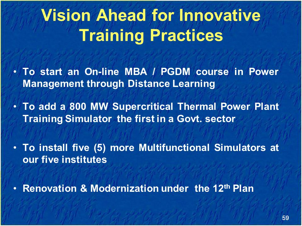Vision Ahead for Innovative Training Practices
