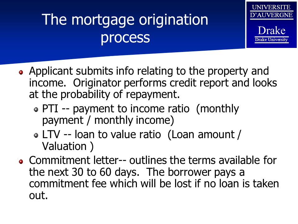 The mortgage origination process