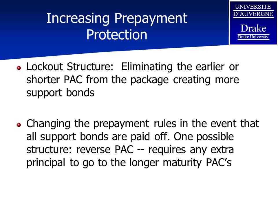 Increasing Prepayment Protection