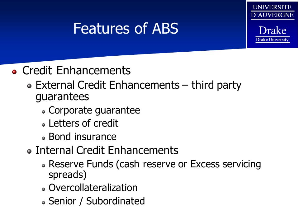 Features of ABS Credit Enhancements