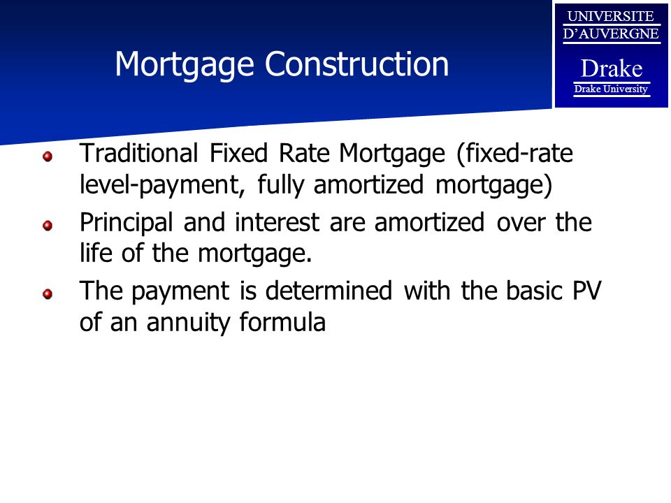 Mortgage Construction