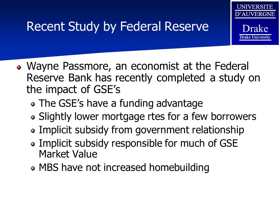 Recent Study by Federal Reserve