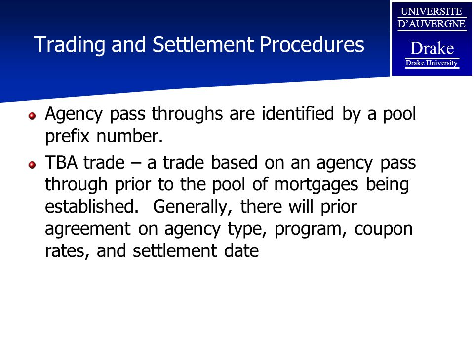 Trading and Settlement Procedures
