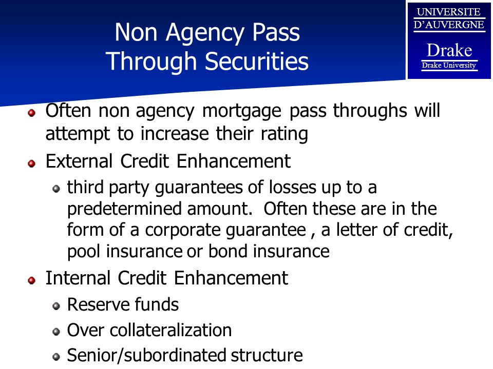 Non Agency Pass Through Securities