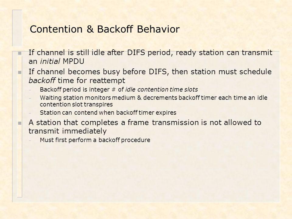 Contention & Backoff Behavior