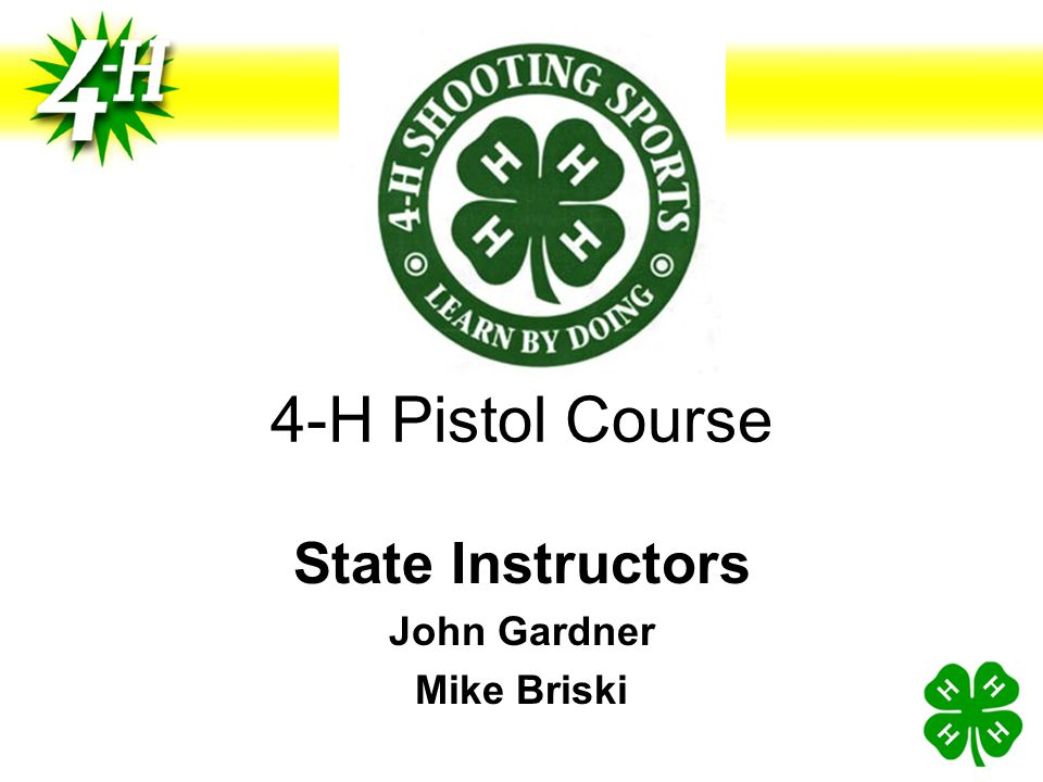 State Instructors John Gardner Mike Briski