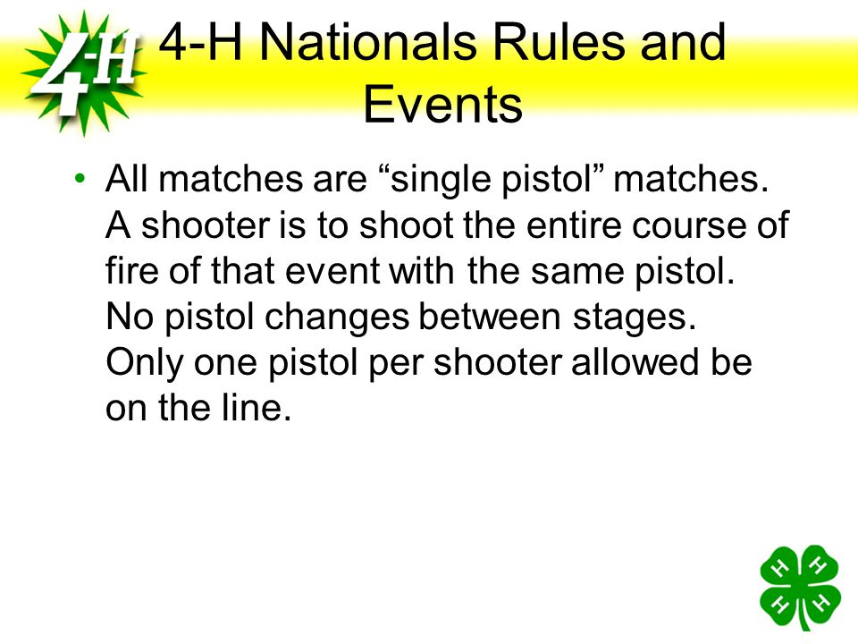4-H Nationals Rules and Events