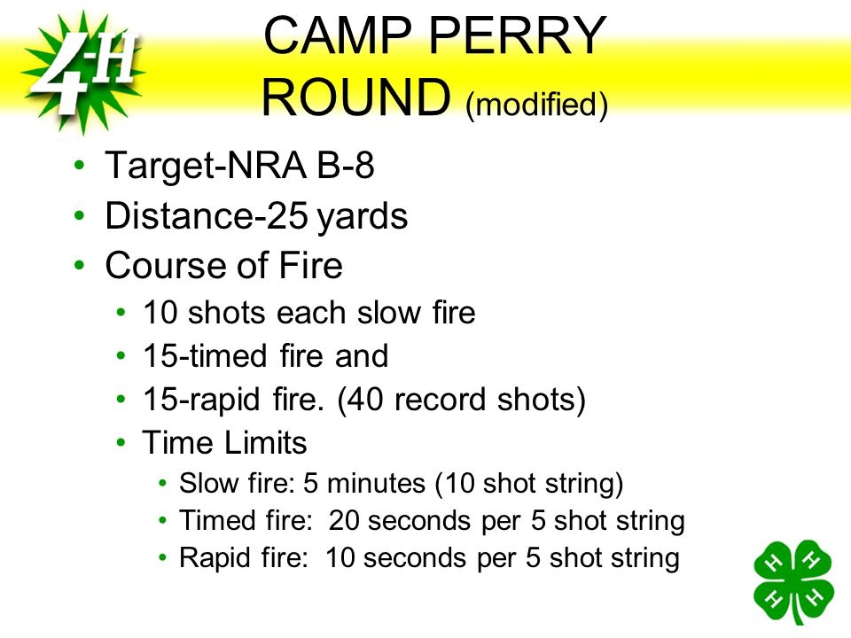 CAMP PERRY ROUND (modified)