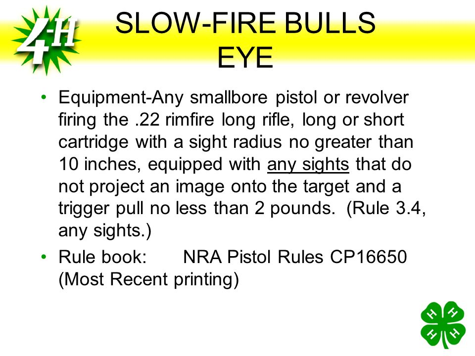 SLOW-FIRE BULLS EYE