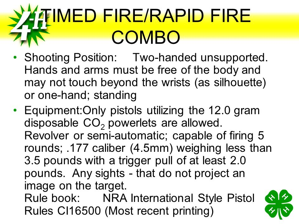 TIMED FIRE/RAPID FIRE COMBO