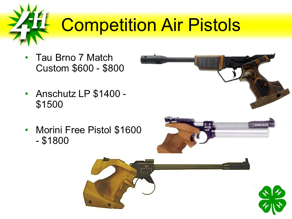 Competition Air Pistols