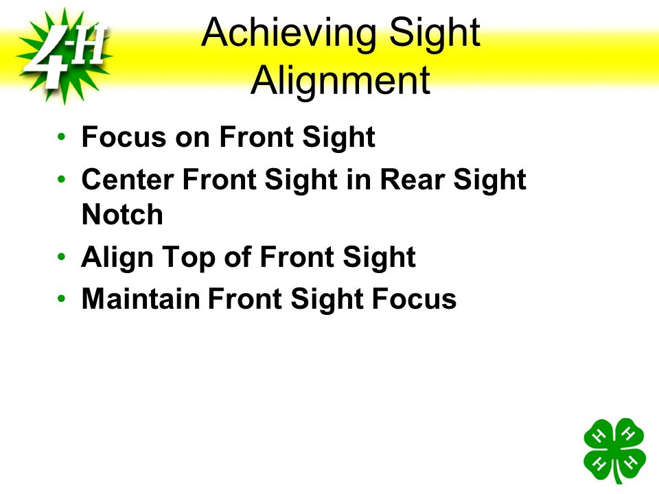 Achieving Sight Alignment