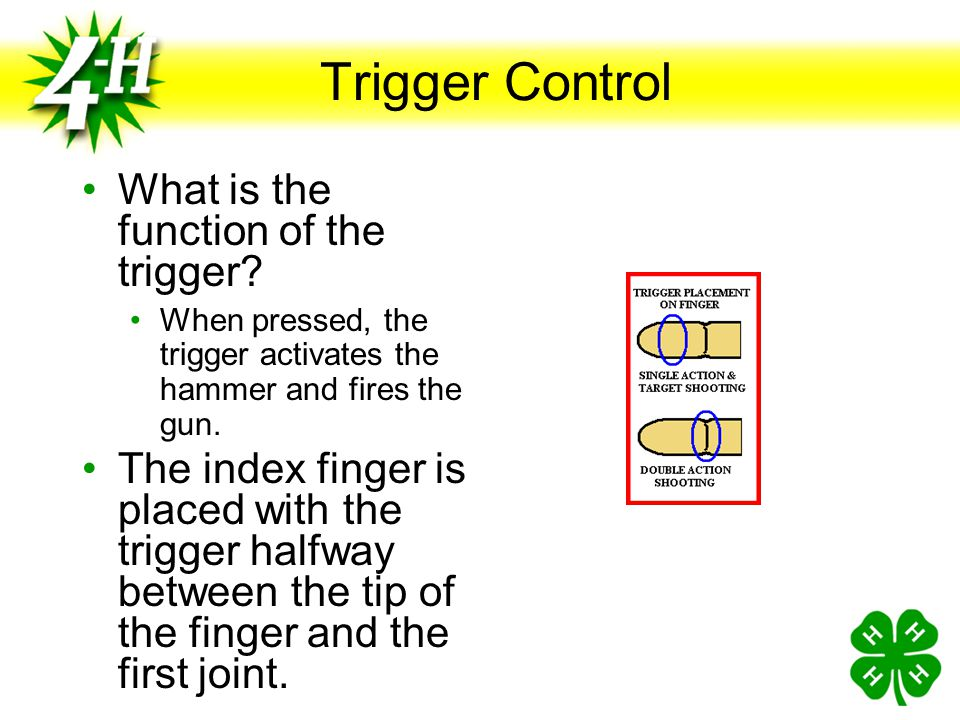 Trigger Control What is the function of the trigger