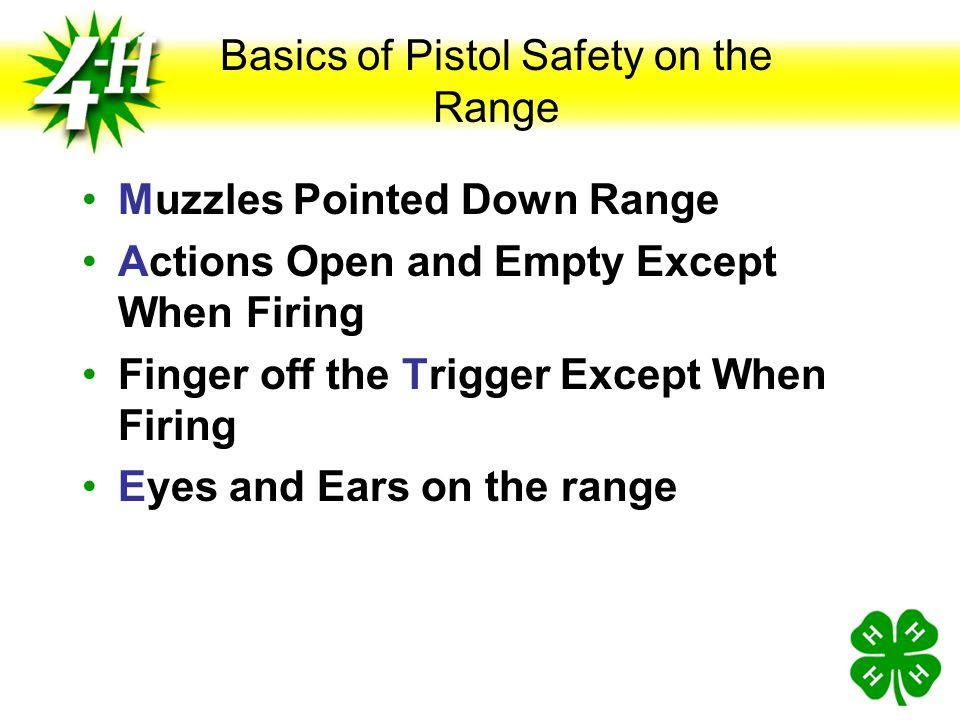 Basics of Pistol Safety on the Range