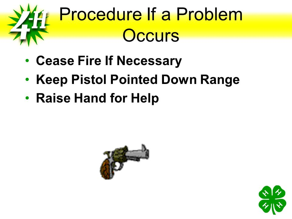 Procedure If a Problem Occurs