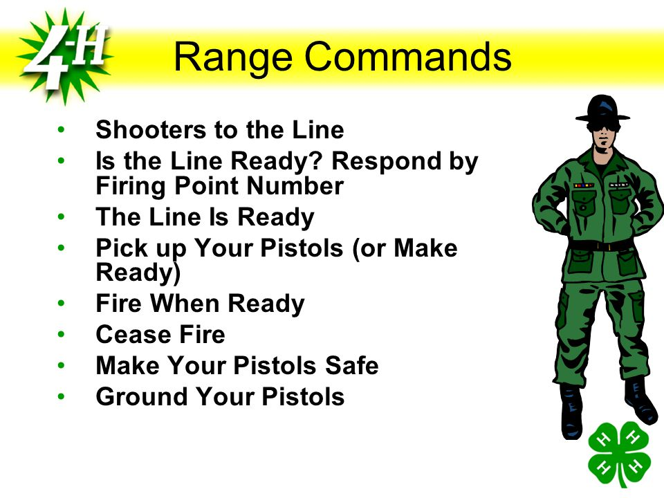 Range Commands Shooters to the Line