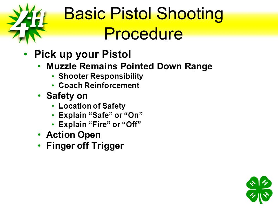 Basic Pistol Shooting Procedure