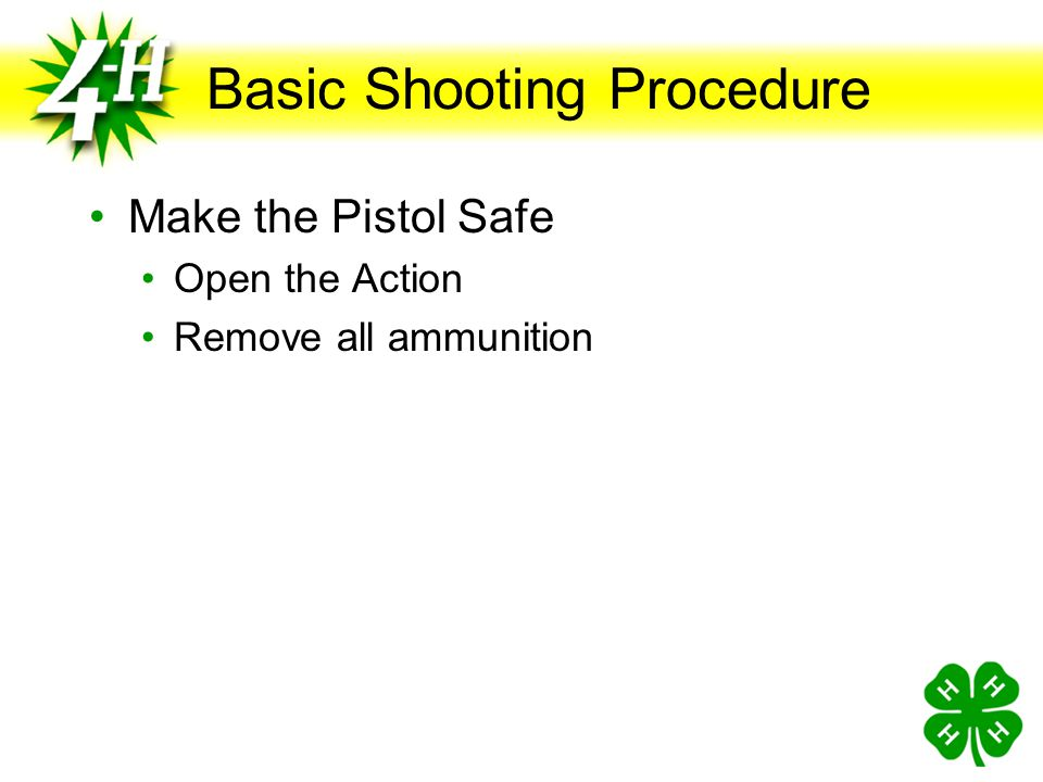Basic Shooting Procedure