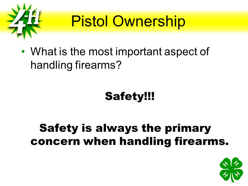 Safety is always the primary concern when handling firearms.