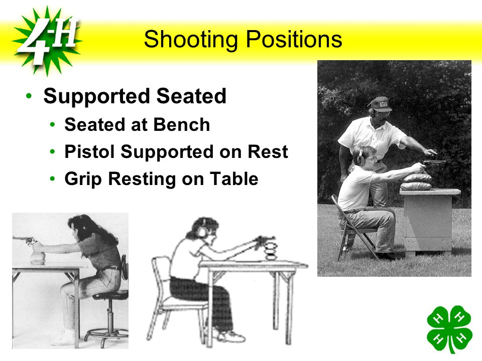 Shooting Positions Supported Seated Seated at Bench