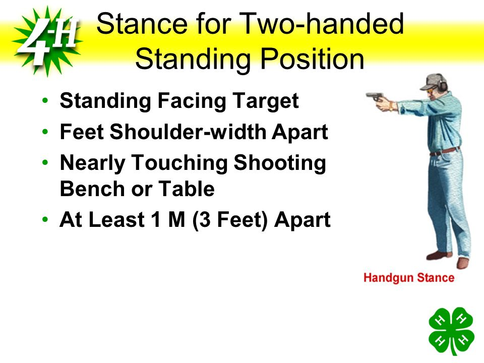 Stance for Two-handed Standing Position