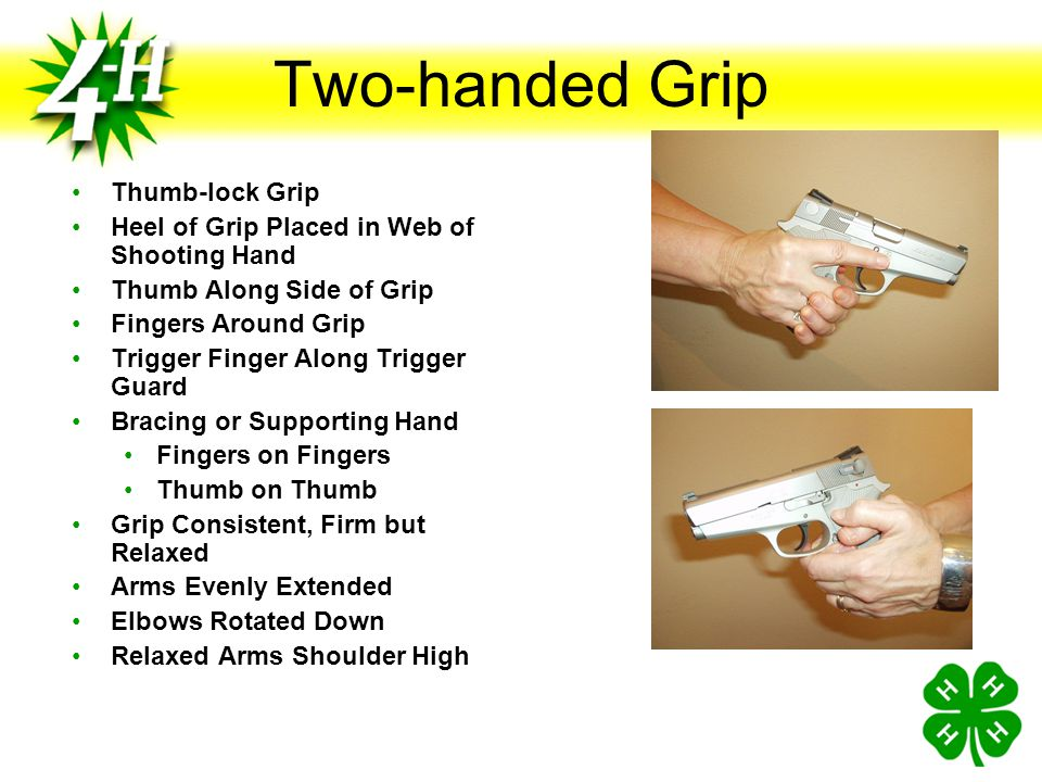 Two-handed Grip Thumb-lock Grip